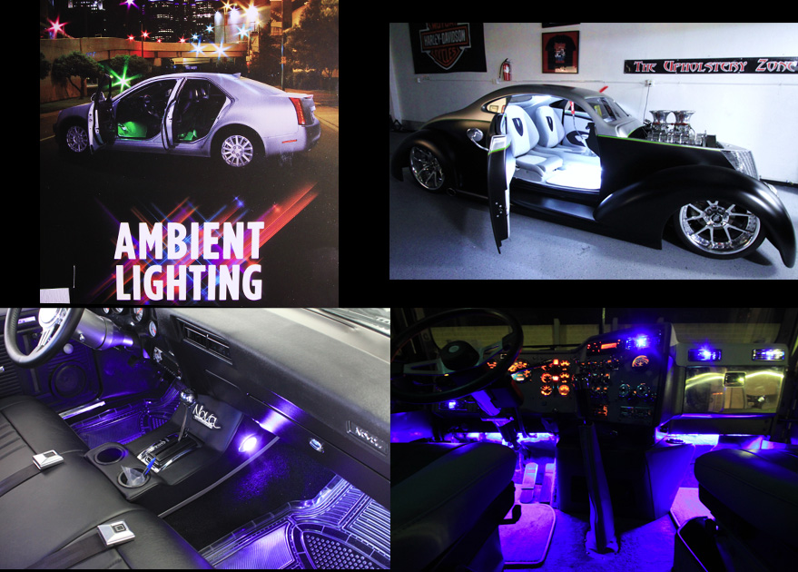ambient lighting interior lighting kit indirect light for cars motorcycles trucks boats. Black Bedroom Furniture Sets. Home Design Ideas